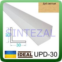 Декоративный пластиковый уголок IDEAL, L-2,7 м. 40 х 40, Дуб светлый