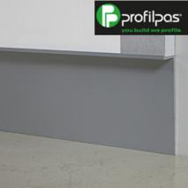"""Дизайнерський алюмінієвий плінтус """"ширяючі стіни"""", Profilpas Metal Line 100. Висота 40 мм."""