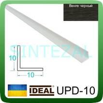 Декоративный пластиковый уголок IDEAL, L-2,7 м. 10 х 10, Венге черный