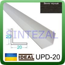 Декоративный пластиковый уголок IDEAL, L-2,7 м. 20 х 20, Венге черный