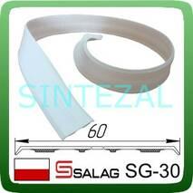 Гибкий  самоклеющийся уголок SALAG, белый.