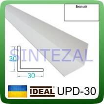 Декоративный пластиковый уголок IDEAL, L-2,7 м. 30 х 30, Белый