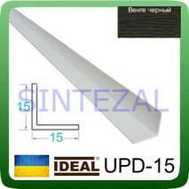 Декоративный пластиковый уголок IDEAL, L-2,7 м. 15 х 15, Венге черный