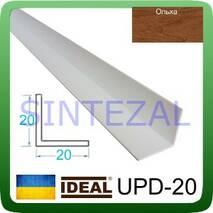 Декоративный пластиковый уголок IDEAL, L-2,7 м. 20 х 20, Ольха