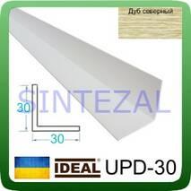 Декоративный пластиковый уголок IDEAL, L-2,7 м. 30 х 30, Дуб северный