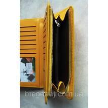 Жовтий гаманець для дівчини Baellerry і сережки-кульки в подарунок