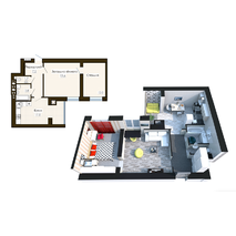 """Двокімнатна квартира в ЖК """"Софія Резидент"""", 62.5 м2, купити"""