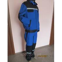 Костюм робітник зі светоотражающей стрічкою синього кольору. Брюки   куртка