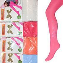 Детские капроновые колготки цветные со стразами оптом 1-10 лет