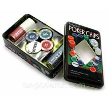 """Набори для покеру """"POKER CHIPS"""" 100 фішок."""