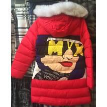 Детская зимняя куртка для девочки оптом на 6-9 лет зеленая