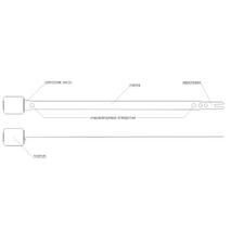 Металева пломба Позичек, стрічкового типу, аналог пломби Банджо і Фліклок