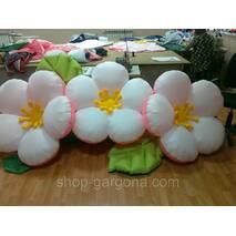 """Пневмоцветы для вашего торжества  """"персиковый цвет"""" 5м (ВИДЕО)"""