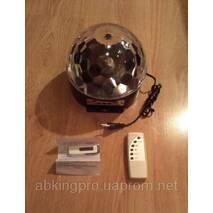 Диско лампа сфера MP3 LED Magic Ball Light  +пульт+флешка