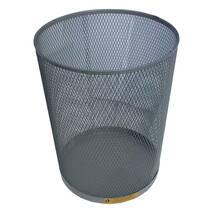 Стальная офисная корзина для мусора, 15 л. Завод им. Фрунзе Ажур-серебро