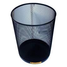 Сталевий офісний кошик для сміття, 15 л. Ажур-черн.