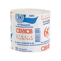 Туалетная бумага Обухов, однослойная, серая, рулон 65 м Обухов М-О