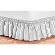 Підзор на ліжко Рюші Модель 9 Білий