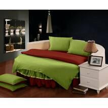 Простирадл цілісна - підзор на Кругле ліжко Модель 6 Салатовий   Винний