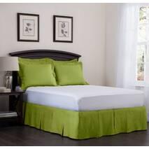 Спідниця для ліжка Салатова Модель 5 строгий Мodern