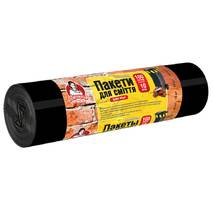 """Пакети для будівельного сміття ТМ """"Помічниця"""" 100 л 10 шт,  чорні"""