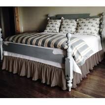 Підзор на ліжко Рюші Модель 2 Винний