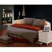 Простирадл цілісна - підзор на Кругле ліжко Модель 6 Винний   Порох