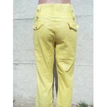 Штани жіночі кольорові Жовтий, 30