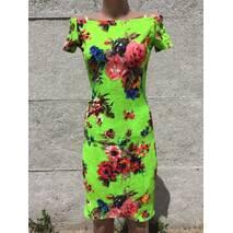 Сукня Квіти Зелений