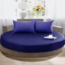 Простирадл на Кругле ліжко Модель 2 Графить Стильні смужки