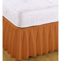 Підзор на ліжко Рюші Модель 7 Винний