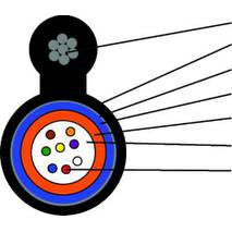 Кабель оптичний 8 волокон, з тросом, SM, броня