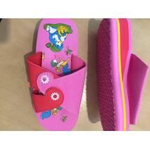 Шльопанці дитячі рожеві 27-36 розмір