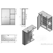 Комплект мебели FANCY MARBLE Ibiza 60