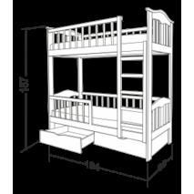 Дерев'яне двоярусне ліжко Стар