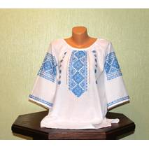 Жіноча сорочка-вишиванка з коротким рукавом ручної роботи