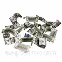 Шикарна грошова гірлянда з купюр по 100 Доларів.