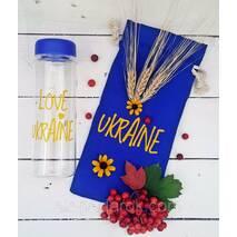 "Дизайнерська пляшечка ""Я люблю Україну""."