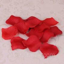 Пелюстки червоної троянди штучні.