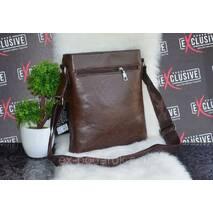 Мужская коричневая сумка.
