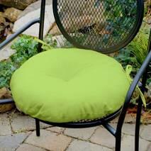 Декоративна подушка на сидіння модель 3 кругла на зав'язках  Салатовий