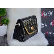 Красива жіноча лакова сумочка -клатч