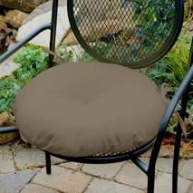 Декоративна подушка на сидіння модель 3 кругла  на зав'язках Медова