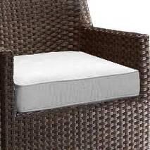Декоративна подушка на сидіння модель 1 квадратна Винний