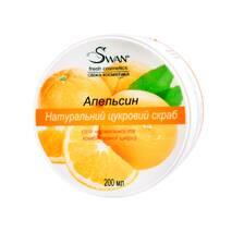 """Натуральний цукровий скраб """"Апельсин"""" (для нормальної, комбінованої шкіри), 250 мл"""