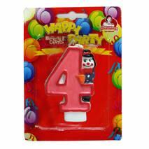 Свічки для торта Свічка циферка з клоуном 0-9, 8см