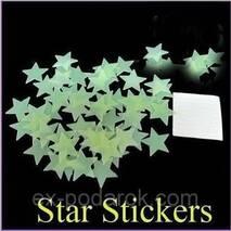 Набор светонакопительных звезд.