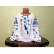 Сорочка-вишиванка ручної роботи для  дівчинки  7-8 років