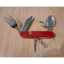 Набор туристический, вилка, ложка, нож, открывашка / 5560