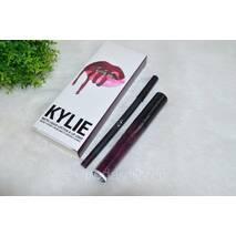 Набор жидкая помада и карандаш Kylie KKW Matte Liquid Lipstick and Lip Liner.